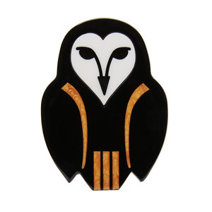 Owl Ornamental Brooch