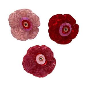 Wild Rose Bouquet Brooch Set