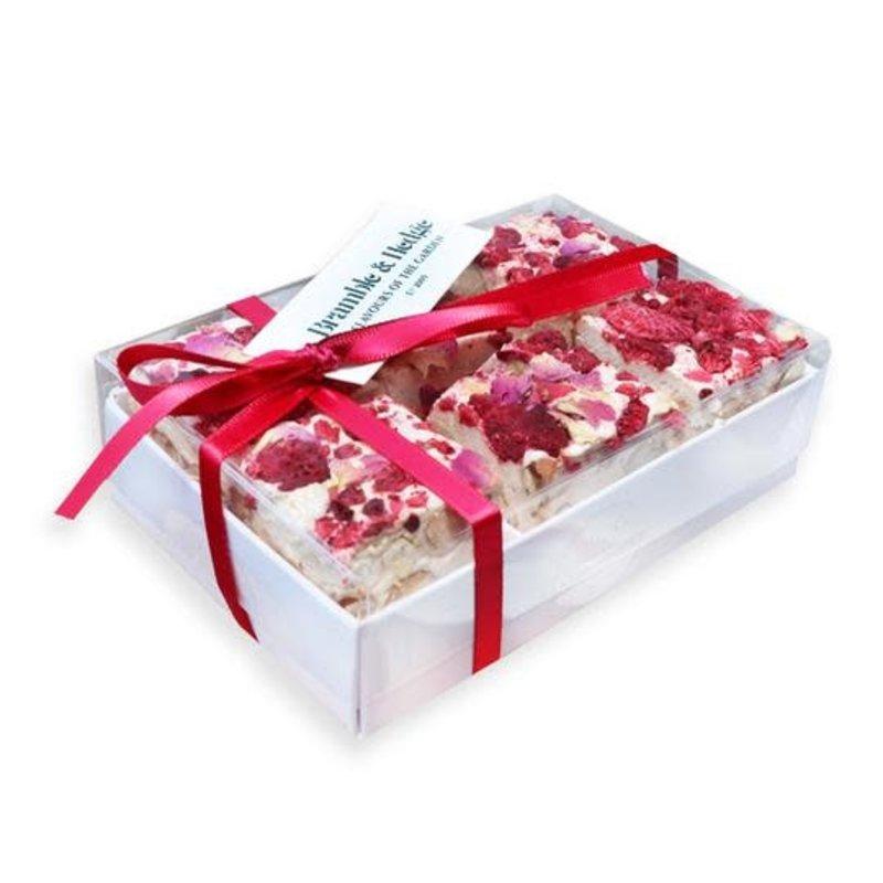 6pc Raspberry, Caramelised, Rose Praline