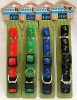 Dog Collar With Print 40cm (assorted Colour)