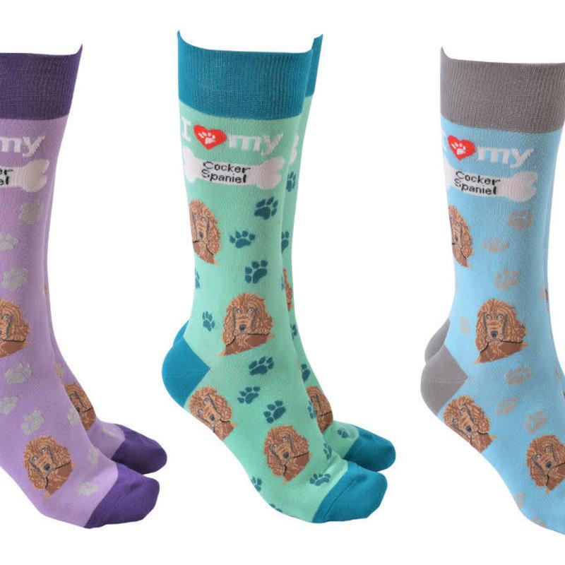 Cocker Spaniel Dog Society Socks (assort