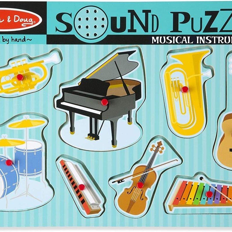 Melissa & Doug - Wooden Sound Puzzle - Musical Instruments