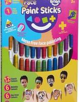 Little Brain Face Paint Sticks 24pk