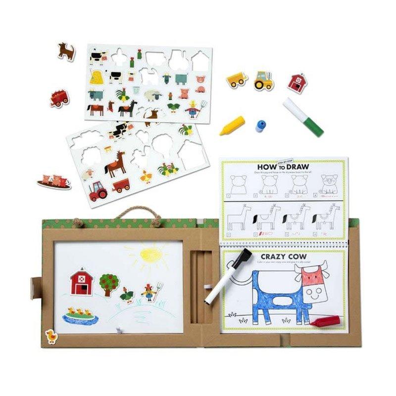 M & D Farm Play Draw Create Activity Set