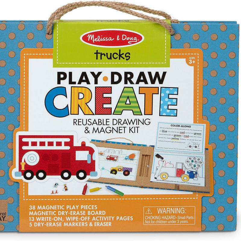 M & D Trucks Play Draw Create