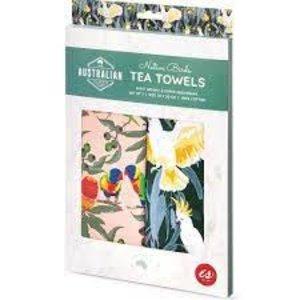 Birds- Australian Collection Tea Towel Set of 2