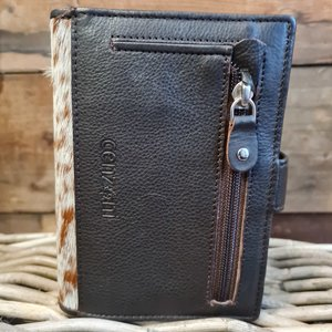 CF Cow Hide Hairon Wallet  White/brown Leather