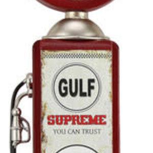 Clock Bowser Gulf Oil 37cm