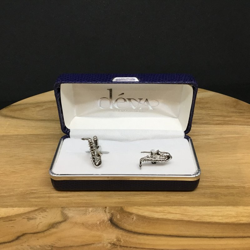 Cufflinks Saxophone- Silver