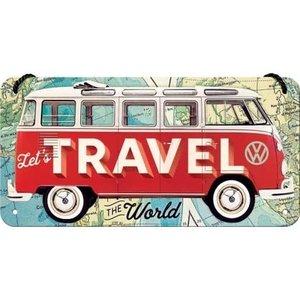 Vw Bulli Travel The World -small Hanging