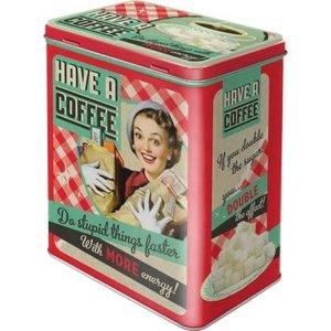 Have A Coffee Retro Tin (l)