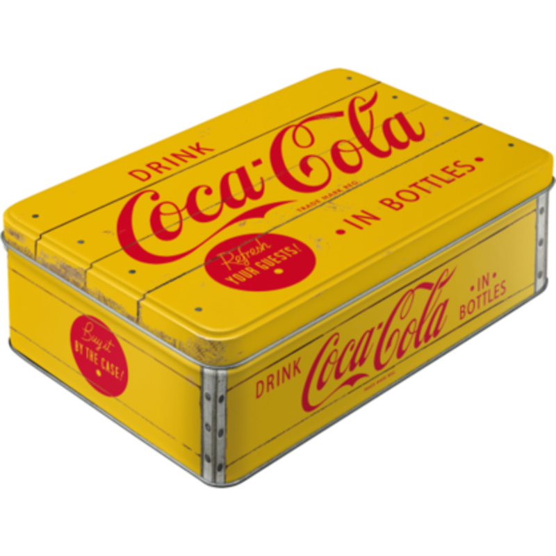 Coca-cola Yellow Red Retro Tin (xl)