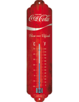 Coca-cola- Logo Red Wave- Thermometer