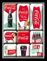 Coca-cola Green White- Magnet Set