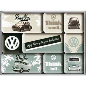 Vw Beetle And Bulli- Magnet Set