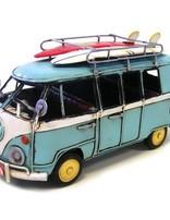 Blue Kombi W/surfboards 21cm