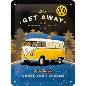 Vw Bulli- Lets Get Away -small Sign