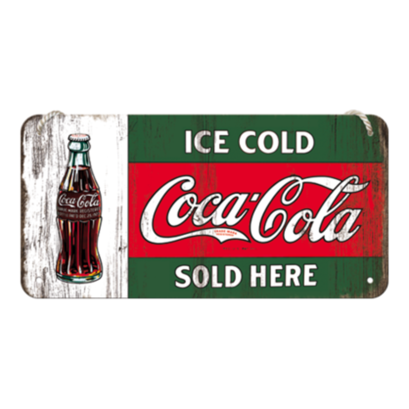 Ice Cold Sold Here -small Hanging Sign