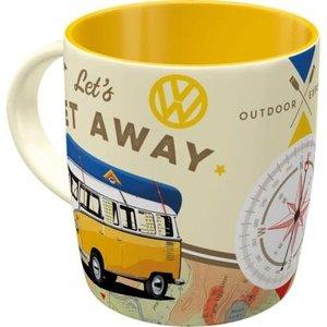 VW Bulli- Lets get Away -mug
