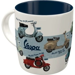 Vespa Modle Chart -mug
