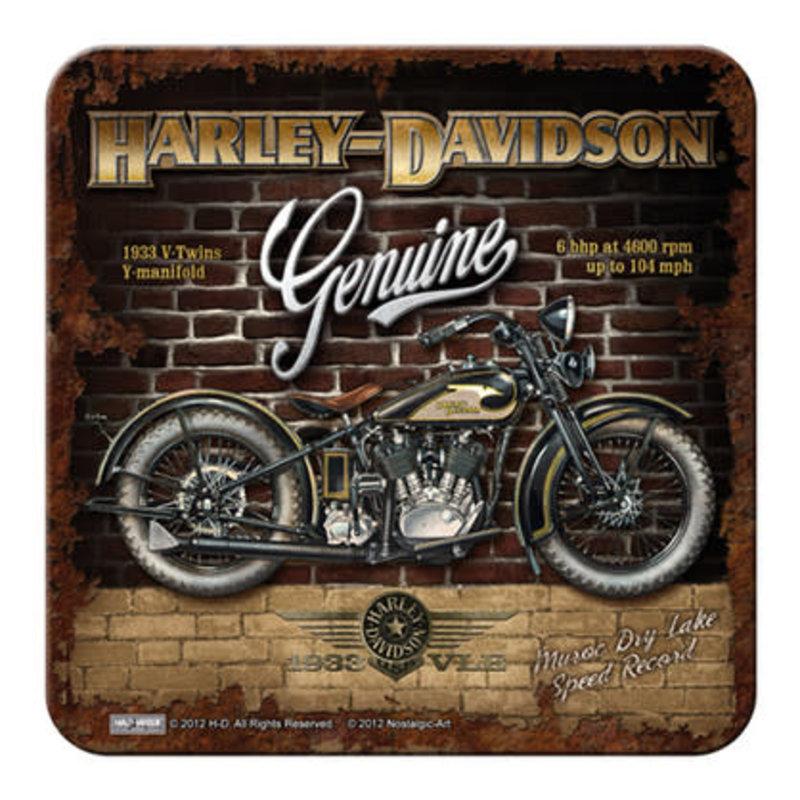 Harley Davidson Brick Wall- Coaster