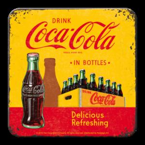 Coke- In Bottles Yellow- Coaster