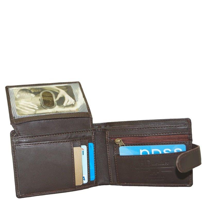 Brown Sheepskin Leather Wallet