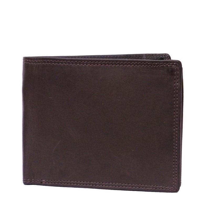 Brown Mens Flip Leather Wallet