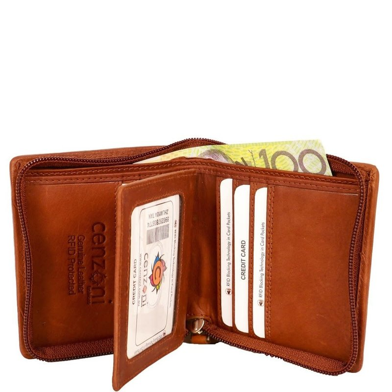 Brown Hairon  Leather ZIP Wallet