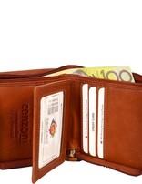 Tan Hairon Zip Leather Wallet