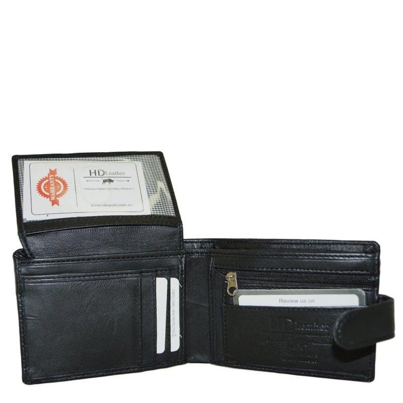 Black Sheepskin Leather Wallet