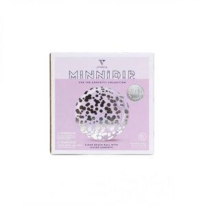 Minnidip Beach Ball Silver Confetti