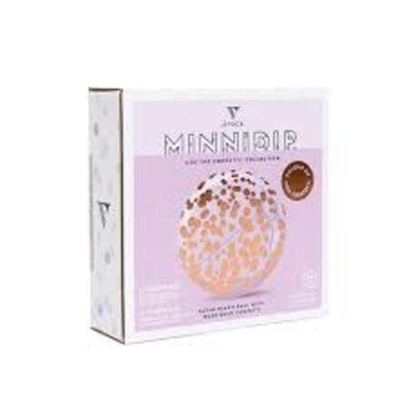 Minnidip Beach Ball  Rose Gold Confetti