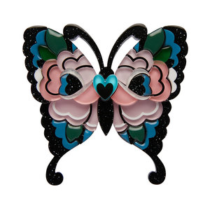 Fright of the Butterfly Brooch