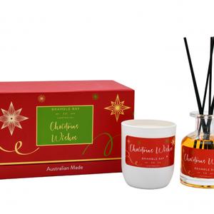 Xmas Gift Set Sugar Plum Candle And Diffuser
