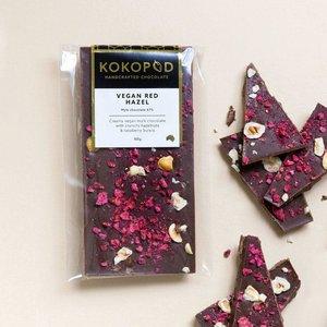 Vegan Red Hazel Chocolate Block 100g KOKOPOD