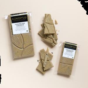 Caramelised Liquorice Chocolate Block 100g KOKOPOD