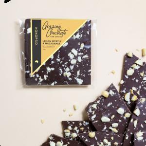100g Lemon Myrtle Macadamia Grazing Chocolate KOKOPOD