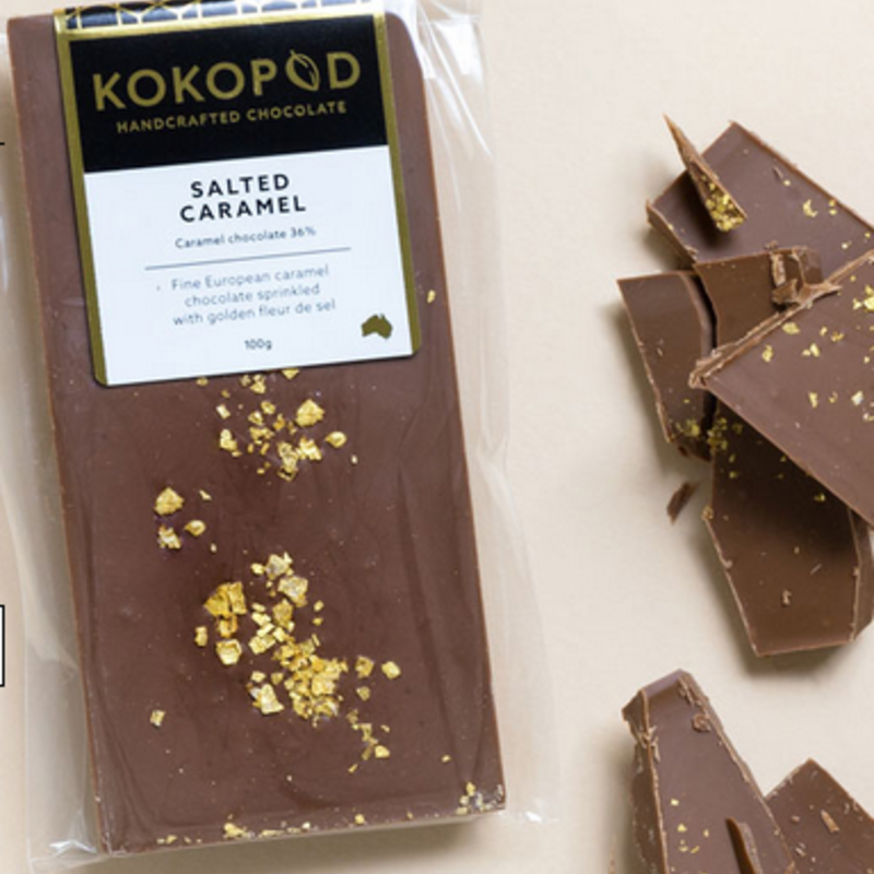 Salted Caramel Chocolate Block 100g KOKOPOD