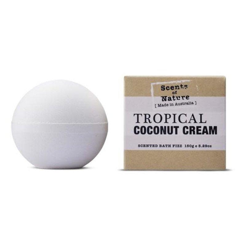 Tropical Coconut Cream Bath Fizz