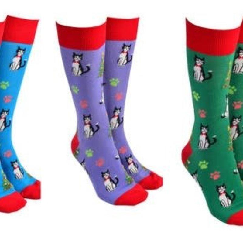Xmas Cat Sock Society(random Colour Selection)