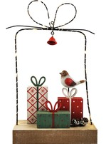 Presents in a Present with Lights Decoration Red & Green 27cm