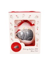 RT Christmas Wombat Bauble Gift Box Red 7cm