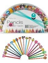Pencil And Erasers Toppers Set 20
