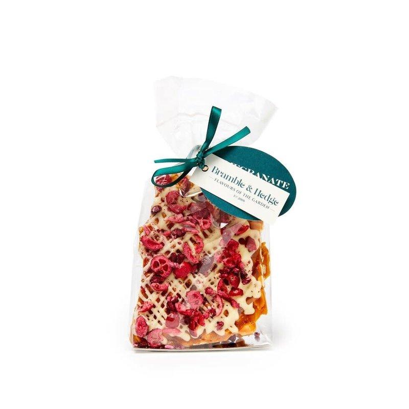 Pomegranate, Cranberry & Orange with White Belgian Chocolate Peanut Brittle
