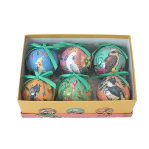 Bauble Set Floral Paradiso set of 6