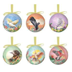 Bauble Mother Nature Set of 6