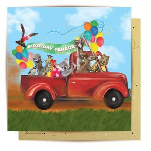 Mini Card Birthday Parade 8x8cm