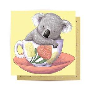 Mini Card Baby Teacup Koala 8X8cm