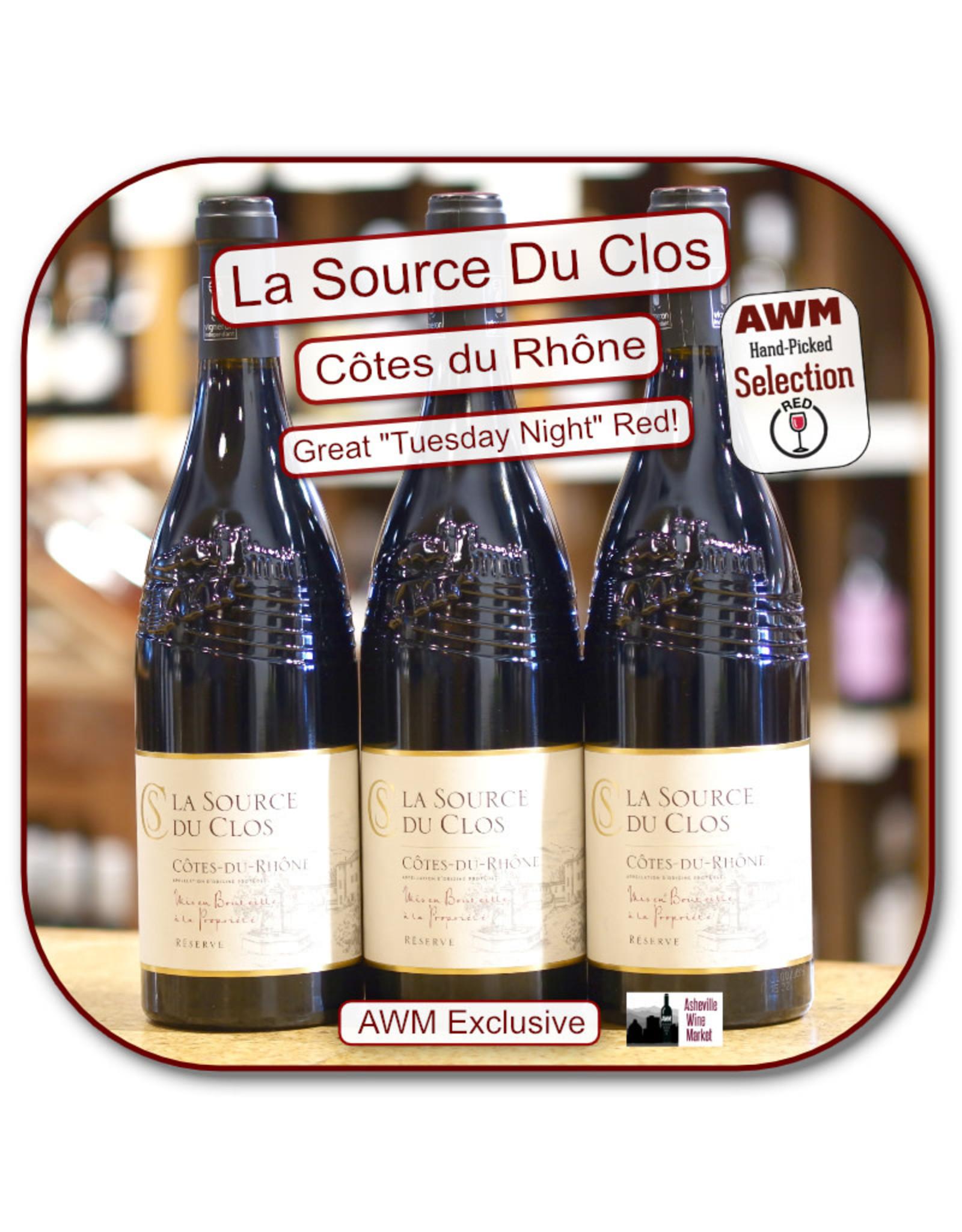 Rhone Blend - GSM Source du Clos, Côtes du Rhône 2018